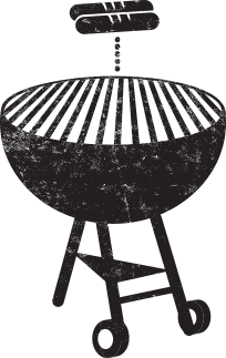 Grill and dog icon